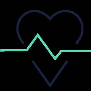 Grafik Herz mit Herschlag