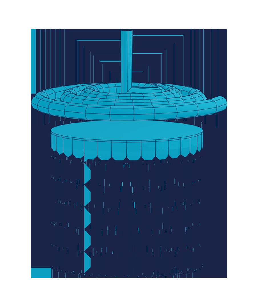 Illustration Erwärmung einer Oberfläche