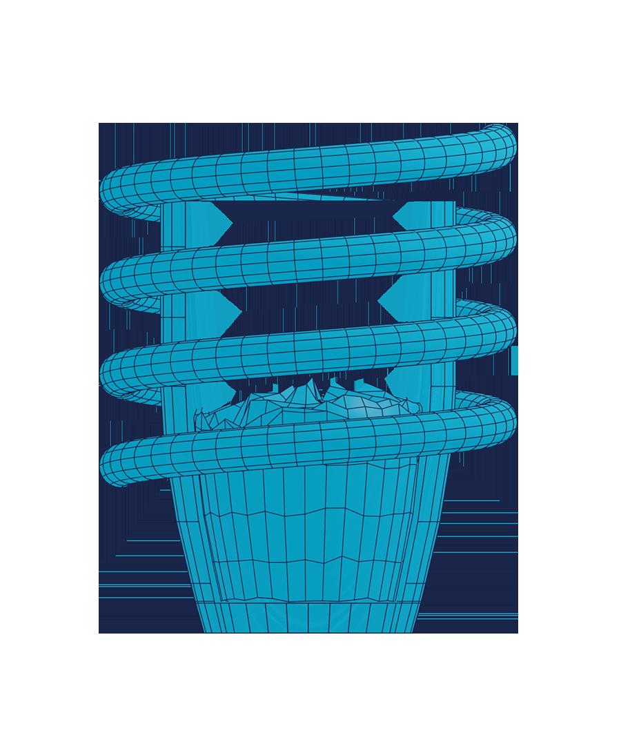 Illustration Schmelzen mit induktiver Erwärmung