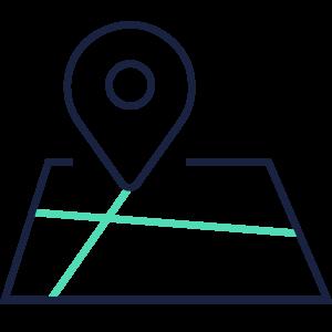 Grafik Karte mit Standort